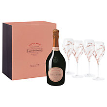 Buy Laurent Perrier Rose & Glasses Set, 75cl Online at johnlewis.com