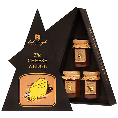 Buy Edinburgh Preserves Cheese Wedge Gift Set, 622g Online at johnlewis.com