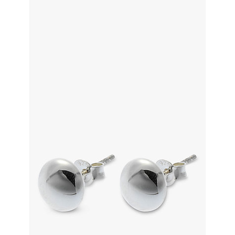 Buy Nina B Silver Round Stud Earrings Online at johnlewis.com