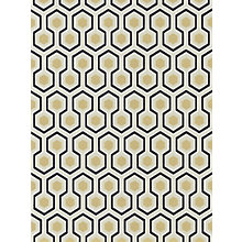 Buy Cole & Son Hicks Hexagon Wallpaper, Black / Gold, 66/8056 Online at johnlewis.com