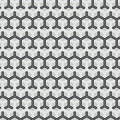 Buy Cole & Son Honeycomb Wallpaper, Black / Grey, 93/15050 Online at johnlewis.com