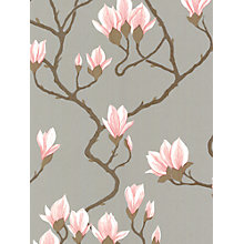 Buy Cole & Son Magnolia Wallpaper, Silver / Pink, 72/3010 Online at johnlewis.com