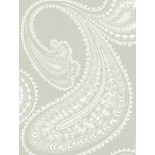 Buy Cole & Son Rajapur Wallpaper, Grey / White, 66/5036 Online at johnlewis.com
