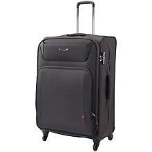 Buy Antler Airstream 4-Wheel Large Suitcase, Charcoal Online at johnlewis.com