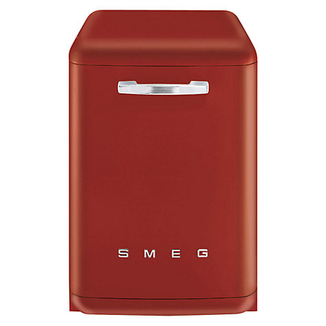 Buy Smeg DF6FABR1 Dishwasher, Cherry Red Online at johnlewis.com