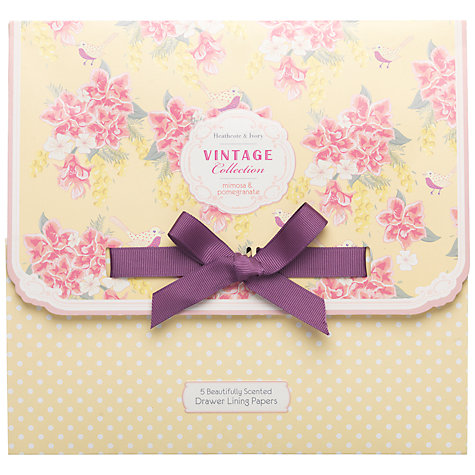 Buy Heathcote & Ivory Vintage Mimosa & Pomegranate Scented Drawer Liners, Pack of 5 Online at johnlewis.com