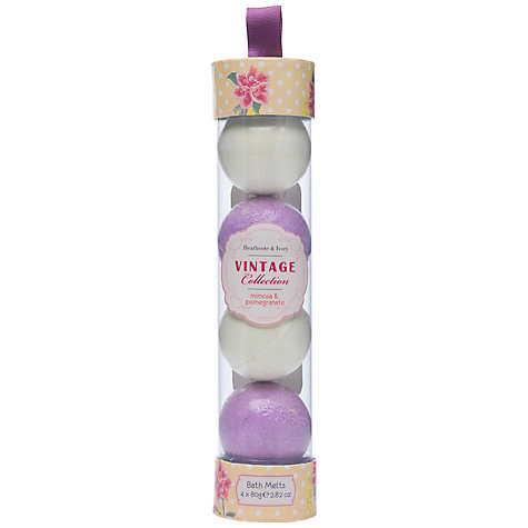 Buy Heathcote & Ivory Vintage Mimosa & Pomegranate Bath Melts, Pack of 4 Online at johnlewis.com