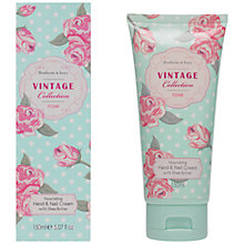 Buy Heathcote & Ivory Vintage Collection Rose Hand and Nail Cream, 150ml Online at johnlewis.com