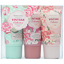 Buy Heathcote & Ivory Vintage Rose Hand Cream, Pack of 3, 30ml Online at johnlewis.com