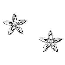 Buy Hot Diamonds Sterling Silver Flower Stud Earrings Online at johnlewis.com