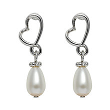 Buy John Lewis Heart Pearl Drop Earrings Online at johnlewis.com