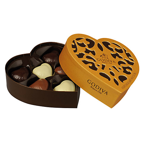Buy Godiva Must Have Chocolate Heart Box, 65g Online at johnlewis.com