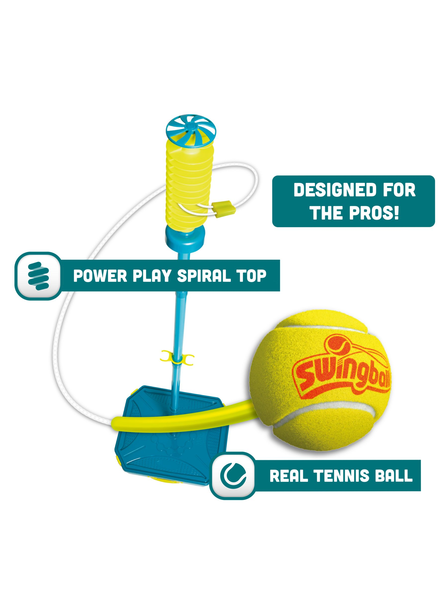 Mookie Toys Mookie Toys Pro Swingball Game with Tailball Attachment