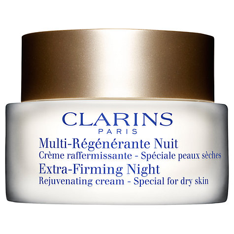 Buy Clarins Extra-Firming Night Rejuvenating Cream - Special for Dry Skin, 50ml Online at johnlewis.com