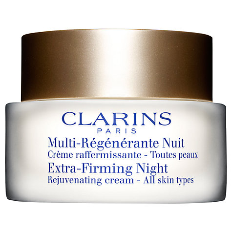 Buy Clarins Extra-Firming Night Rejuvenating Cream - All Skin Types, 50ml Online at johnlewis.com