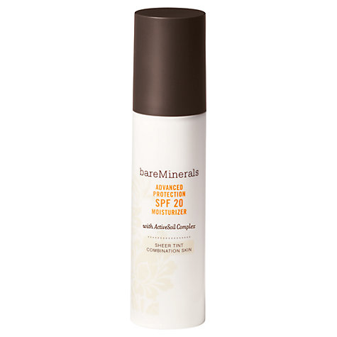 Buy Bare Escentuals bareMinerals Advanced Protection Sheer Tint SPF20 Moisturiser - Combination Skin Online at johnlewis.com