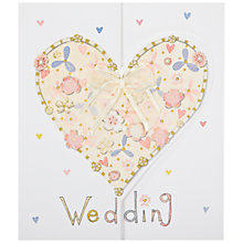 Buy Rachel Ellen Designs Wedding Heart Greeting Card Online at johnlewis.com