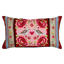 Buy PiP Studio Birds Multi Flower Cushion, Red Online at johnlewis.com