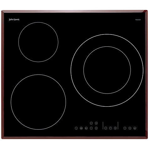 Buy John Lewis JLBIIH606 Ceramic Induction Hob, Black Online at johnlewis.com