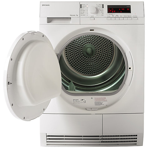 Buy John Lewis JLTDH16 Condenser Sensor Tumble Dryer, 7kg Load, A+ Energy Rating, White Online at johnlewis.com