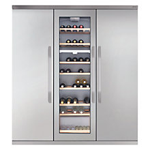 Buy John Lewis Side by Side JLFFW1554 Wine Cooler Triple Fridge Freezer, Stainless Steel Online at johnlewis.com