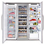 Buy John Lewis Side by Side JLFFW1554 Slimdepth Wine Cooler Triple Fridge Freezer, Stainless Steel Online at johnlewis.com