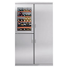 Buy John Lewis Side-by-Side JLWFF1104 Wine Cooler Fridge Freezer, Stainless Steel Online at johnlewis.com