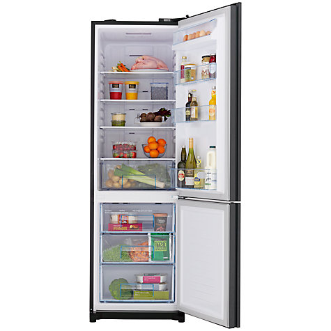 Buy John Lewis JLFSBK2001 Fridge Freezer, Black Glass Online at johnlewis.com