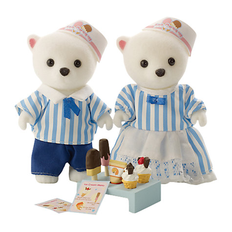 Buy Sylvanian Families Ice Cream Van Driver Figures Online at johnlewis.com