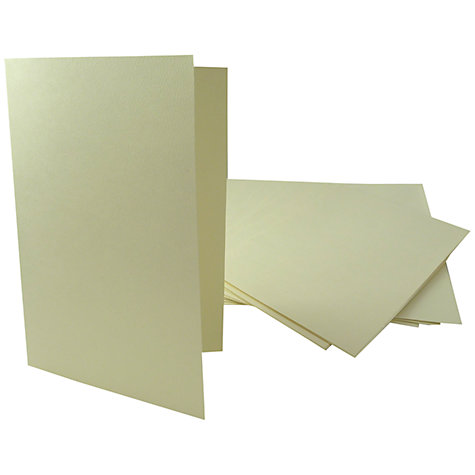 Buy John Lewis A5 Embossed Cards and Envelopes, Pack of 10, Cream Online at johnlewis.com