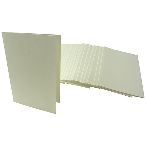 Buy John Lewis C6 Embossed Cards and Envelopes, Pack of 25 Online at johnlewis.com
