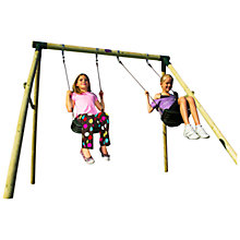 Buy Plum Marmoset Wooden Double Swing Set Online at johnlewis.com