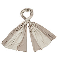 Buy John Lewis Block Stripe Wrap, Cream/Taupe Online at johnlewis.com