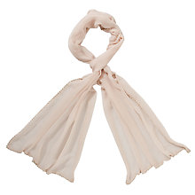 Buy John Lewis Pearl Diamanté Trim Scarf, Nude Online at johnlewis.com