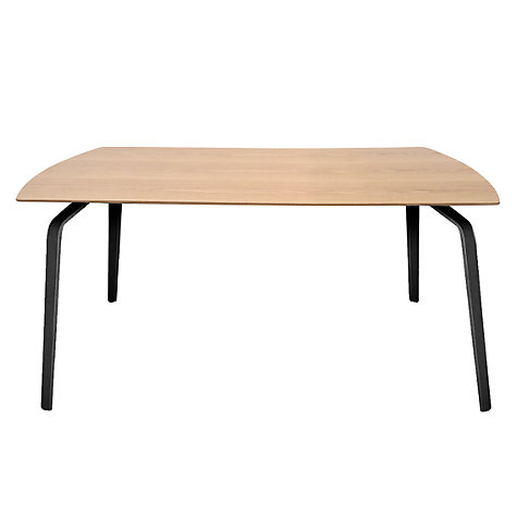 Buy John Lewis Float Dining Table, 8 Seater, Oak Veneer Top with Black Legs Online at johnlewis.com