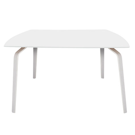 Buy John Lewis Float Table, 6 Seater, White Laminate Top / White Legs Online at johnlewis.com