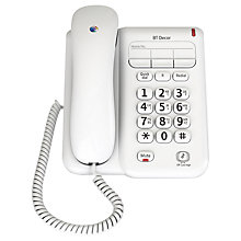 Buy BT Decor 2100 Corded Telephone, White Online at johnlewis.com