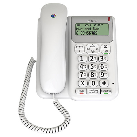 Buy BT Décor 2200 Corded Telephone, White Online at johnlewis.com