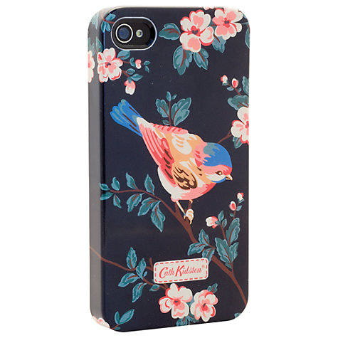 Buy Cath Kidston Charcoal Birds Phone Case for iPhone 4 Online at johnlewis.com