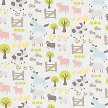 Buy John Lewis Farmyard Furnishing Fabric, Multi Online at johnlewis.com