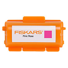 Buy Fiskars Continuous Stamp Ink Cartridge, Pink/Rose Online at johnlewis.com
