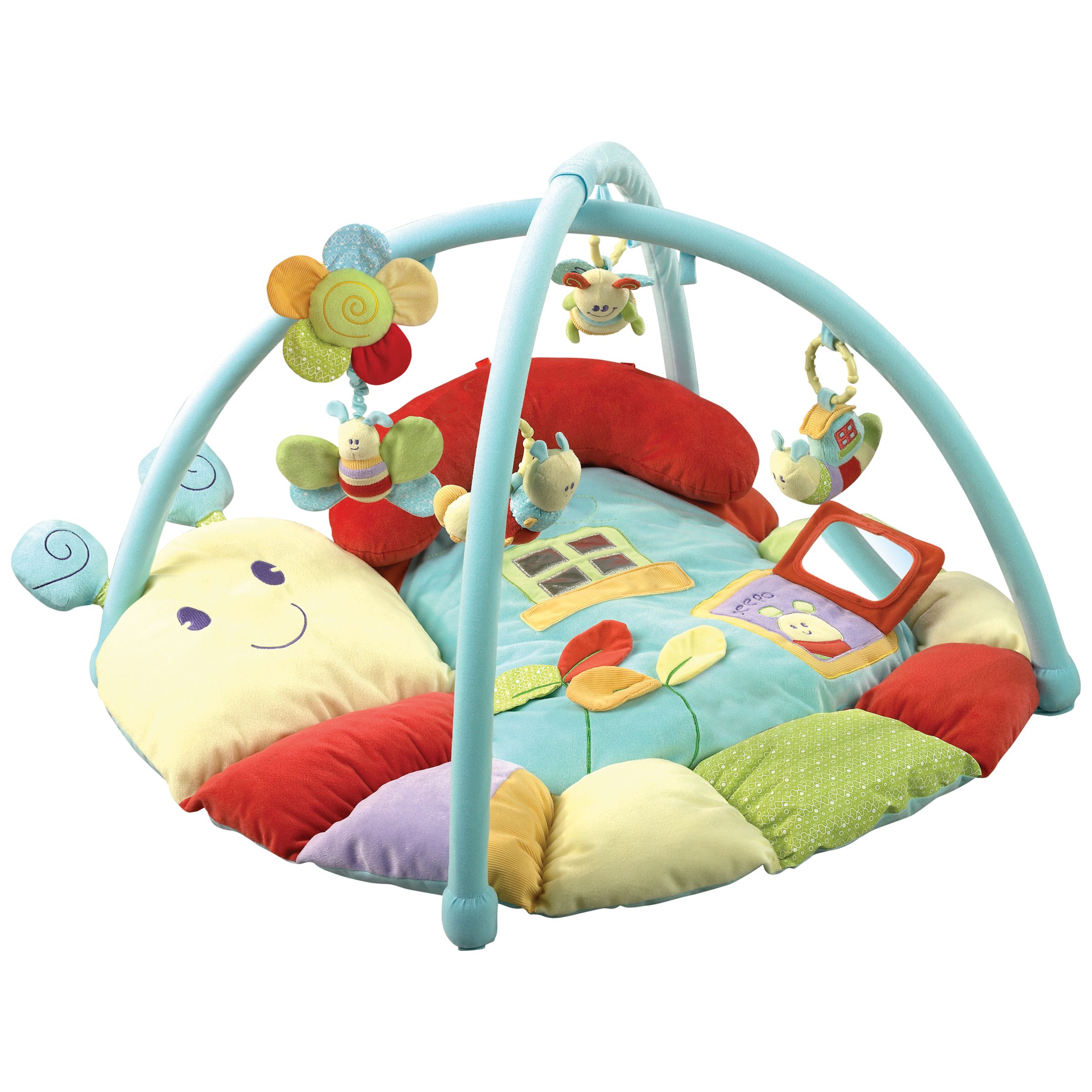 Little Bird Told Me Little Bird Told Me Softly Snail Multi-Activity Baby Playmat and Gym