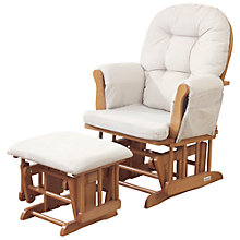 Buy Haywood Glider Nursing Chair and Footstool, Natural Online at johnlewis.com