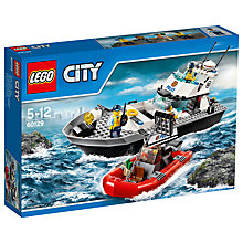 Buy LEGO City Police Patrol Boat Bundle with Free Watch Online at johnlewis.com