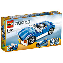 Buy LEGO Creator 3-In-1 Blue Roadster Online at johnlewis.com