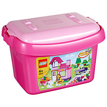 Buy LEGO Bricks & More Brick Box, Pink Online at johnlewis.com