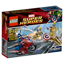 Buy Lego Super Heroes Captain America's Avenging Cycle Online at johnlewis.com