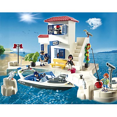 Playmobil Harbour Police Station with Speedboat