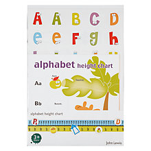 Buy John Lewis Alphabet Height Chart Online at johnlewis.com
