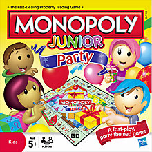 Buy Hasbro Monopoly Junior Party Game Online at johnlewis.com